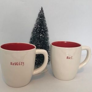 Rae Dunn Naughty & Nice Mug Set